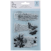 Butterfly Note Clear Stamps