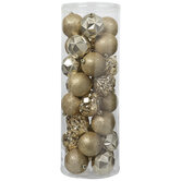 Gold Matte, Glitter & Mercury Glass Ball & Onion Ornaments
