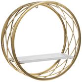 Gold & White Wire Circle Shelf