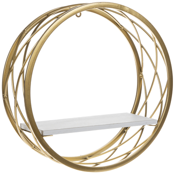 Gold & White Wire Circle Shelf