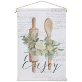 Enjoy Floral Utensils Tapestry Wall Decor