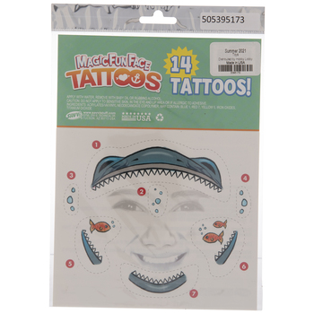 Shark Temporary Face Tattoos