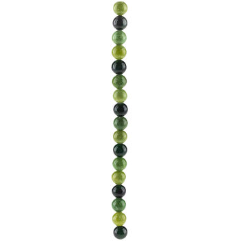 Green Mix Round Dyed Jade Bead Strand
