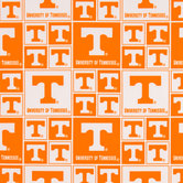 Tennessee Block Collegiate Cotton Fabric