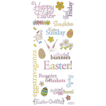 Happy Easter Glitter Stickers