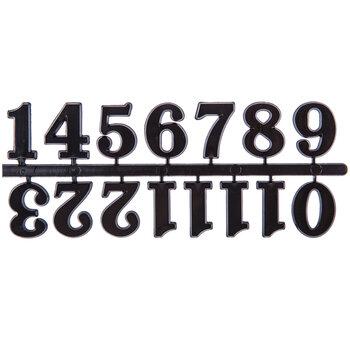 Black Adhesive Clock Numerals - 25mm