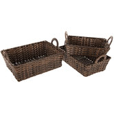 Brown Wicker Basket Set