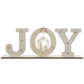 Joy Nativity Wood Decor