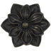 Antique Bronze Floral Metal Knob