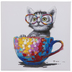 Cat In Colorful Mug Canvas Wall Decor