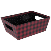 Red & Black Buffalo Check Box
