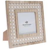 "Whitewash Knot Wood Frame - 4"" x 4"""