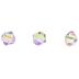 Black Diamond Shimmer Bicone Beads - 4mm