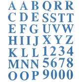 Blue Alphabet Stickers