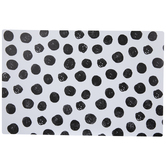 Black Scribbled Polka Dots Placemat
