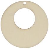 Open Circle Wood Pendants