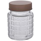 Woven Textured Glass Jar