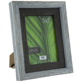"Crackled White Rustic Wood Frame - 5"" x 7"""