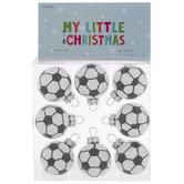 Mini Soccer Ball Round Ornaments