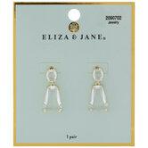 Faceted Glass Drop Earrings