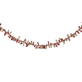 Red & Gold Twisted Icicle Garland