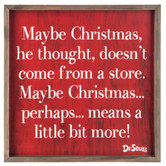 Christmas Doesn't Come From A Store Wood Wall Decor