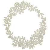 Floral Wreath Wood Shape
