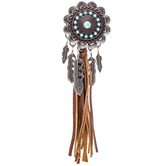 Flower Dreamcatcher Pendant With Tassel