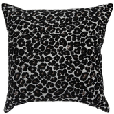 White & Black Cheetah Print Pillow