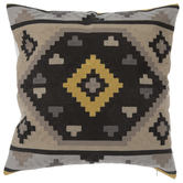 Gray & Yellow Southwestern Pillow Cover
