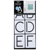 Round Font Adhesive Stencils