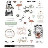 Happy Girls Foil Stickers
