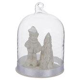 Child & Christmas Tree Dome Ornament