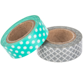 Quatrefoil & Polka Dot Washi Tape