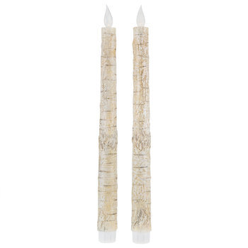 Birch LED Taper Candles