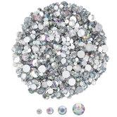 Assorted Crystal AB Round Flatback Rhinestones