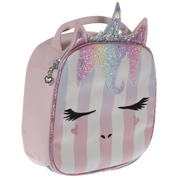 Unicorn Striped Glitter Lunch Box