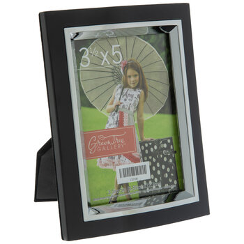 "Black Frame With Metal Facing - 3 1/2"" x 5"""
