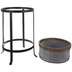 Ridged Galvanized Metal Plant Stand - Large