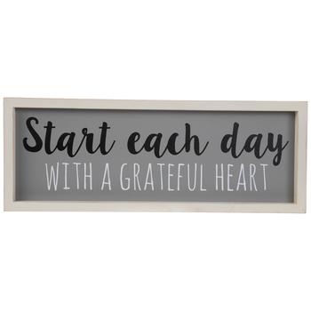 A Grateful Heart Wood Wall Decor