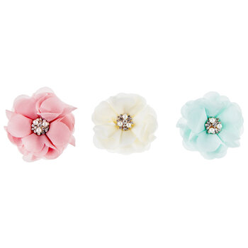 Pearl Cluster Flower Clips