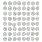 Round Glitter Rhinestone Stickers