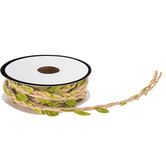 Green Leaf & Linen Twine Spool