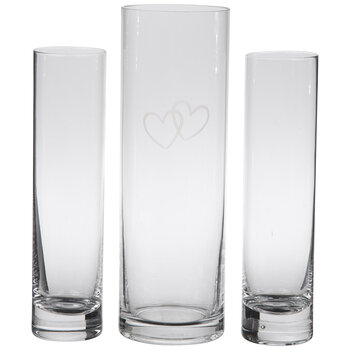 Etched Hearts Sand Ceremony Glasses