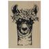 Flower Llama Rubber Stamp