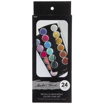 Metallic Semi-Moist Watercolor Paints - 24 Piece Set