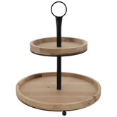 Two-Tiered Wood Tray
