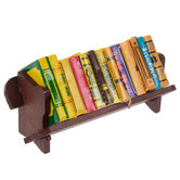Miniature Bookshelf With Books