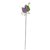 Grasshopper Metal Garden Stake