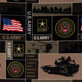 United States Army Block Fleece Fabric